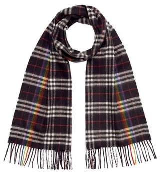 Burberry The Classic Rainbow Check Cashmere Scarf