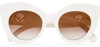 Cat-eye Acetate Sunglasses - White