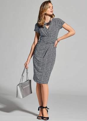Kaleidoscope Jersey Mock Wrap Dress