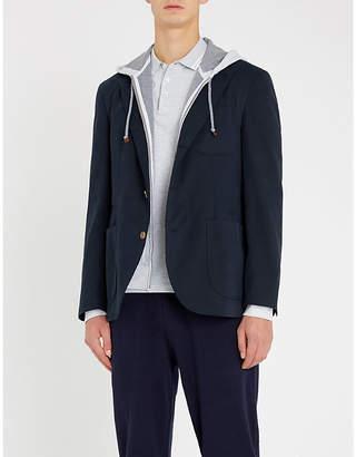 Brunello Cucinelli Striped-trims cotton-piqué polo shirt