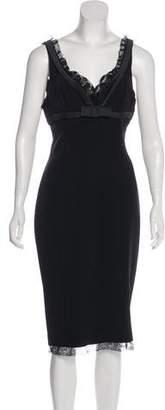 Dolce & Gabbana V-Neck Sleeveless Dress