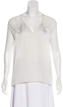 Helmut Lang Sleeveless V-Neck Blouse