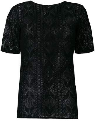 Saint Laurent lace short sleeve top