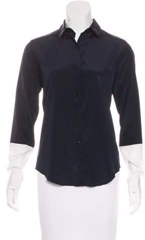 Callens Silk Button-Up Blouse w/ Tags