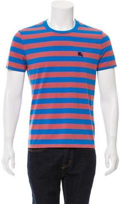 Burberry Striped Crew Neck T-Shirt w/ Tags