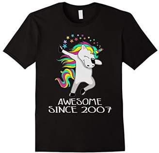 Kid 11 Yrs Old 11th Birthday Unicorn Shirt Gift 2007 Dabbing