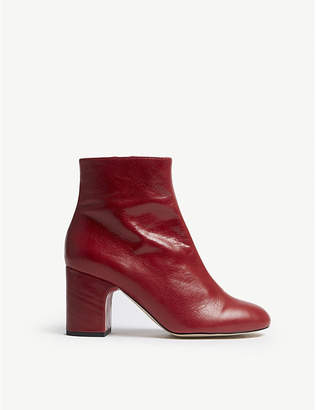 Office Applause leather block heel boots