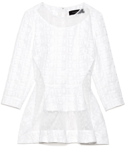 Thakoon Preorder Embroidered Poplin Top With Lace Inset