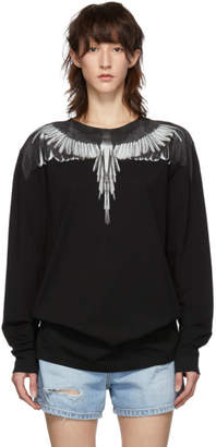 Marcelo Burlon County of Milan Black Wings Long Sleeve T-Shirt
