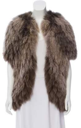 J. Mendel Open Front Fur Vest