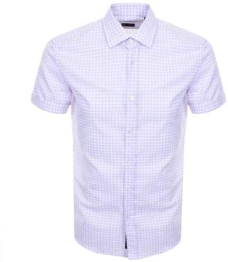 HUGO BOSS Short Sleeved Slim Fit Shirt Pink