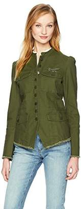 William Rast Women's Bragg Fitted Officer Jacket