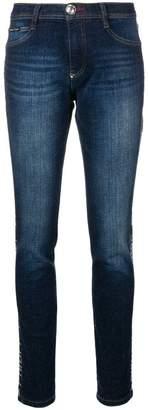 Philipp Plein logo strass jeans