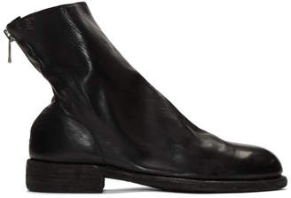Guidi Black Back Zip Boots