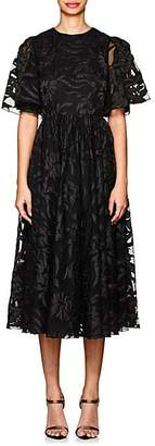 Co Women's Floral-Embroidered Tulle Cocktail Dress - Black