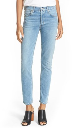 Women's Re/done Originals High Rise Straight Skinny Stretch Jeans $250 thestylecure.com