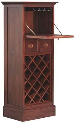 Kayu Estate Wine Racks and Cabinets Kamar Tall Wine Cabinet, CF Mahagony