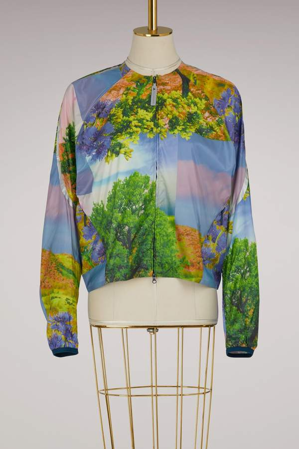 Adidas By Stella Mccartney Running jacket nature print