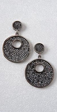 Kenneth Jay Lane Pave Disc Earrings