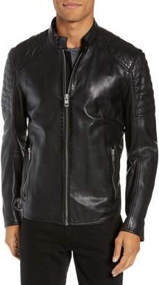 BOSS Jaysee Slim Fit Leather Jacket