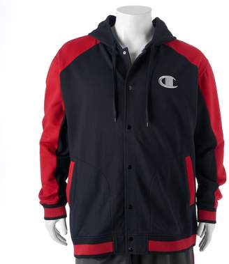 Champion Big & Tall Modern-Fit Colorblock Hooded Fleece Jacket