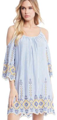 Fifteen-Twenty Fifteen Twenty Emb Stripe Dress