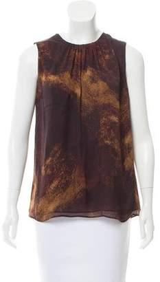 Michael Kors Silk Printed Sleeveless Top