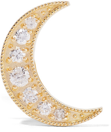 Andrea FohrmanAndrea Fohrman - Mini Crescent 18-karat Gold Diamond Earring - one size