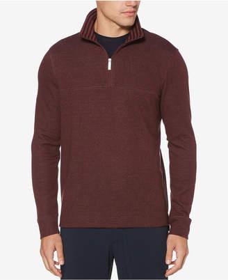 Perry Ellis Men Textured Quarter-Zip Pullover