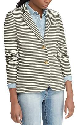 Ralph Lauren Pique Striped Blazer
