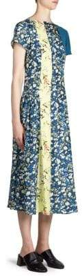 Acne Studios Jovana Floral Midi Dress