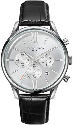 Giorgio Fedon Men's Vintage IX Leather Watch, 43mm