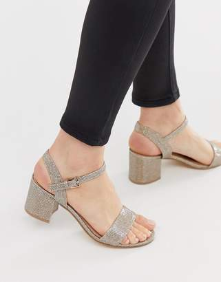 London Rebel mid heel sandals