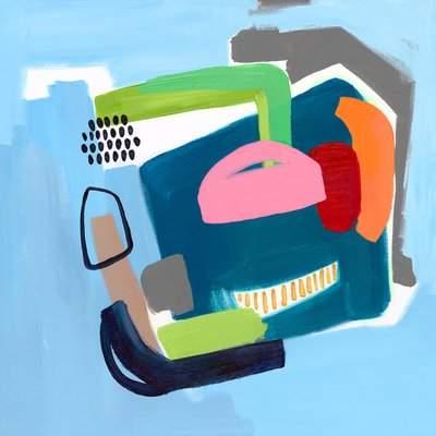 Wayfair 'Color Block 1' Acrylic Painting Print