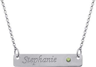 FINE JEWELRY Personalized Birthstone Engraved Bar Name Necklace
