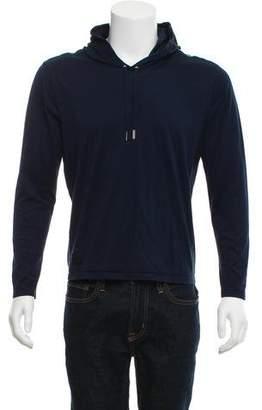 Christian Dior Logo Applique Hooded Sweatshirt