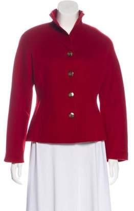 Ellen Tracy Linda Allard Wool Button-Up Jacket