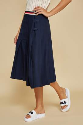 Fila Bandier X Midi Length Knife Pleated Skirt
