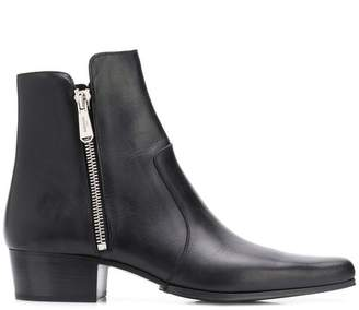 Balmain zipped up ankle boots