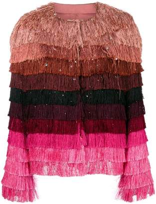 Marco De Vincenzo fringed jacket