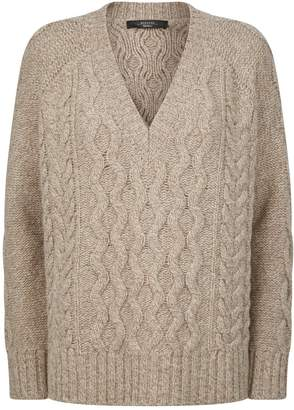 Max Mara Wool Cable-Knit Sweater