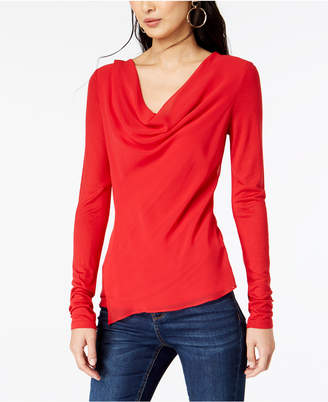 INC International Concepts I.n.c. Petite Asymmetrical Cowl-Neck Top, Created for Macy's