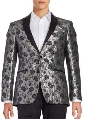 Contrast Floral Sportcoat $295 thestylecure.com