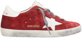 Golden Goose Superstar Red Suede Leather Sneakers