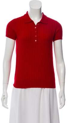 Burberry Cashmere Polo Top w/ Tags