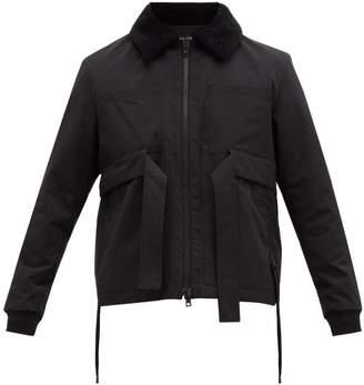 Craig Green Shearling Collar Cotton Shell Jacket - Mens - Black