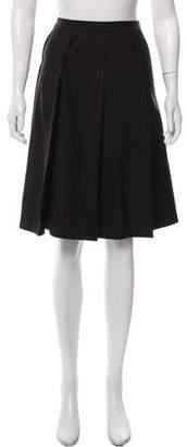 Armani Collezioni Wool Pleated Skirt