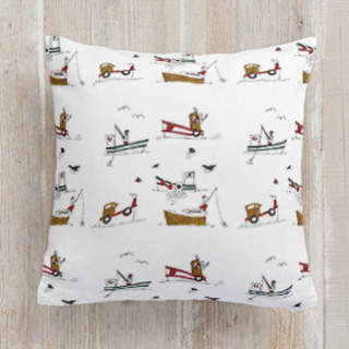 Gone Fishing Square Pillow