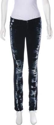 J Brand Low-Rise Tie-Dye Skinny Jeans