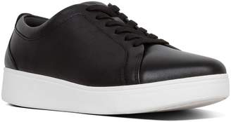 Next Womens FitFlop Black Tennis Leather Trainer